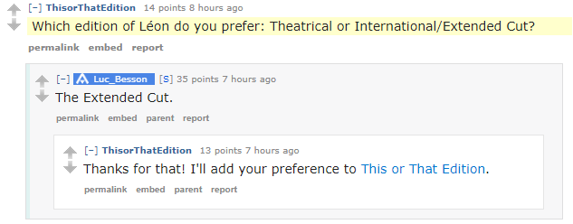 Luc Besson Reddit Preference